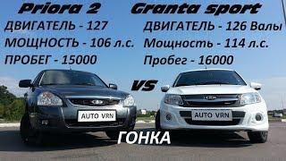 Priora 2 Vs Granta Sport !!!Гонка!!!! Битва Титанов!!!! Кто Самый Быстрый Таз???