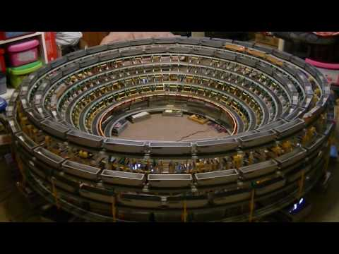 The Downward Spiraling Helix with an HO scale model train and K'NEX