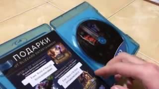 Распаковка коробки с фильмом Варкрафт 2D на Blu Ray
