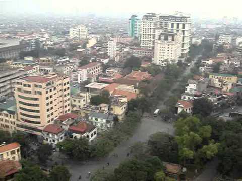 Vista de Hanoi desde arriba del Melia Hanoi