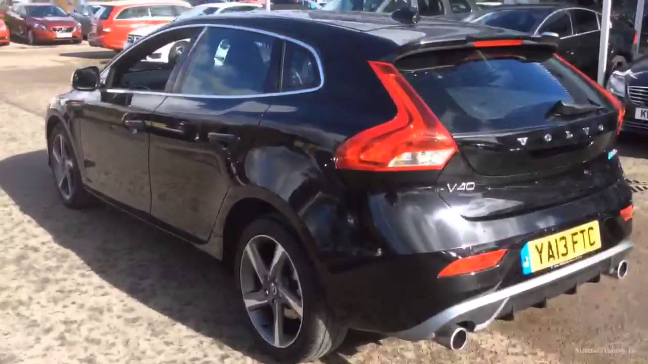 volvo v40 d3 r design black 2013 youtube. Black Bedroom Furniture Sets. Home Design Ideas