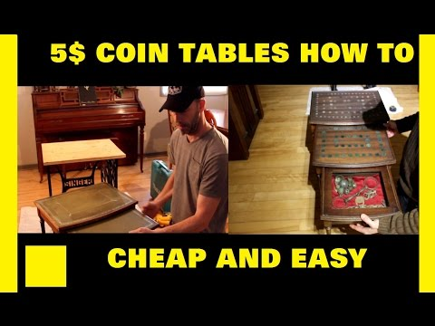 How To Make A Coin Collection Table