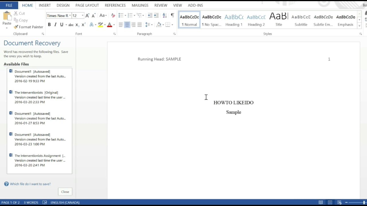how to create apa title page