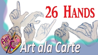 Drawing 26 ASL Hands