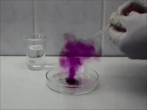 Chemistry Experiment 14 - Reaction Between Iodine And Zinc