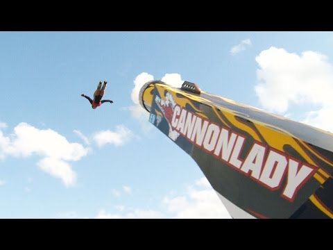 Cannon Lady! Daredevil mom brings high-adrenaline stunt to Calgary