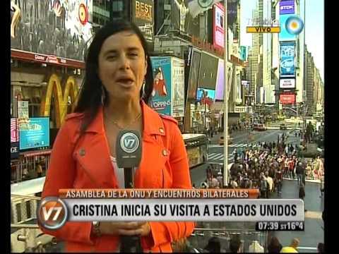 Visión 7: Cristina inicia su visita a Estados Unidos
