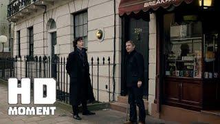 3 самоубийства, что вы думаете? Уже четыре. Шерлок и Ватсон осматривают квартиру - Шерлок (2010)