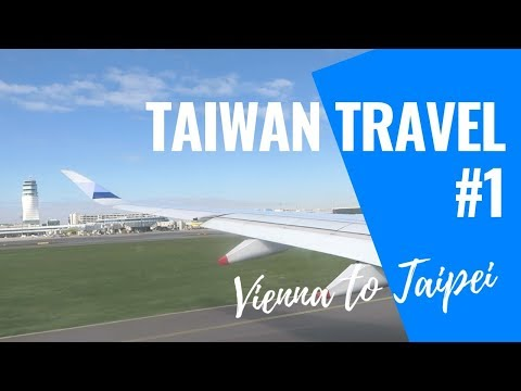 CHINA AIRLINES VIENNA TO TAIWAN with Fruit Plate Meal | Taiwan Travel Vlog #1