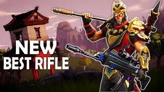 BEST RIFLE IN THE GAME   SCOPED AR BUFF   INTENSE FIGHTS - (Fortnite Battle Royale)