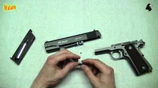 видео Пневматический пистолет Макарова мр 654к, мини обзор