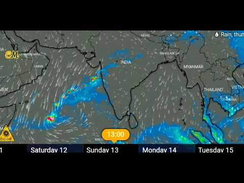 Rain Forecast Across The Country For The Next 7 Days 10 to 17 Dec, 2020.