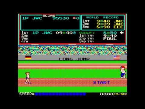 track and field  ARCADE 2.5 MILLION POINTS 2503610