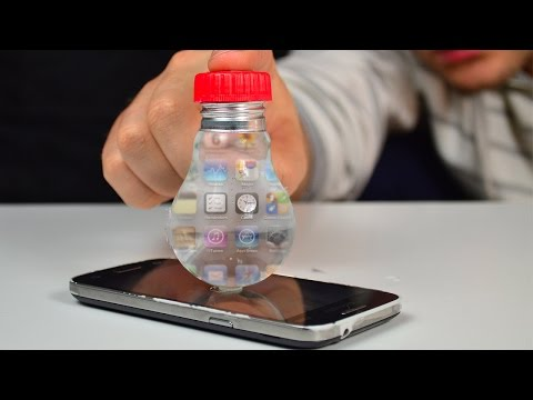 How to Make a Smartphone Projector out of the Box and light Bulbs