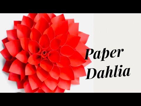Dahlia flower DIY || How to make Dahlia paper flower.dahlia flower diy