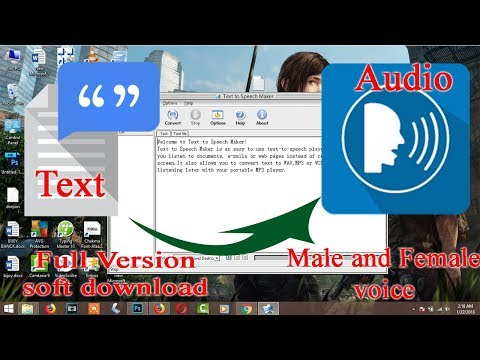 Text to speech software free download