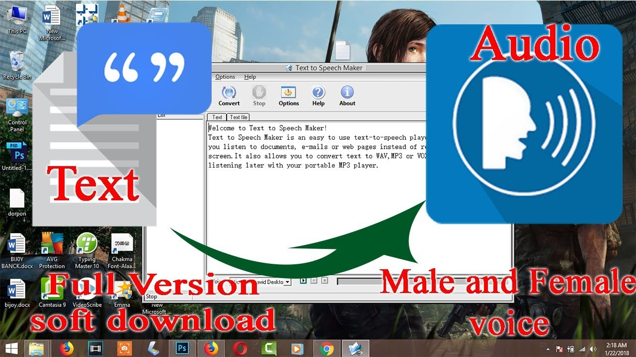 free software to convert text to speech