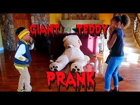 Giant Teddy Bear PRANK!
