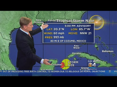 Tracking The Tropics: Tropical Storm Nate 7PM