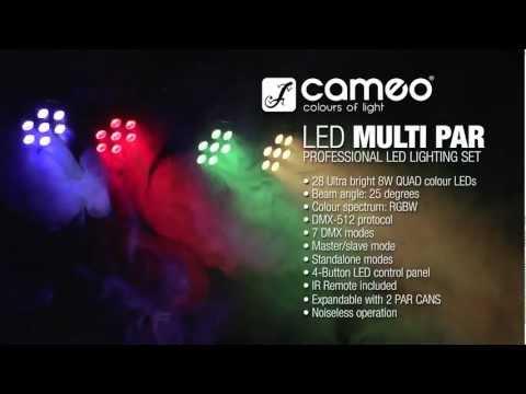 Cameo Light Multi PAR 3- Compact 28 x 8 W QUAD colour LED Lighting Set