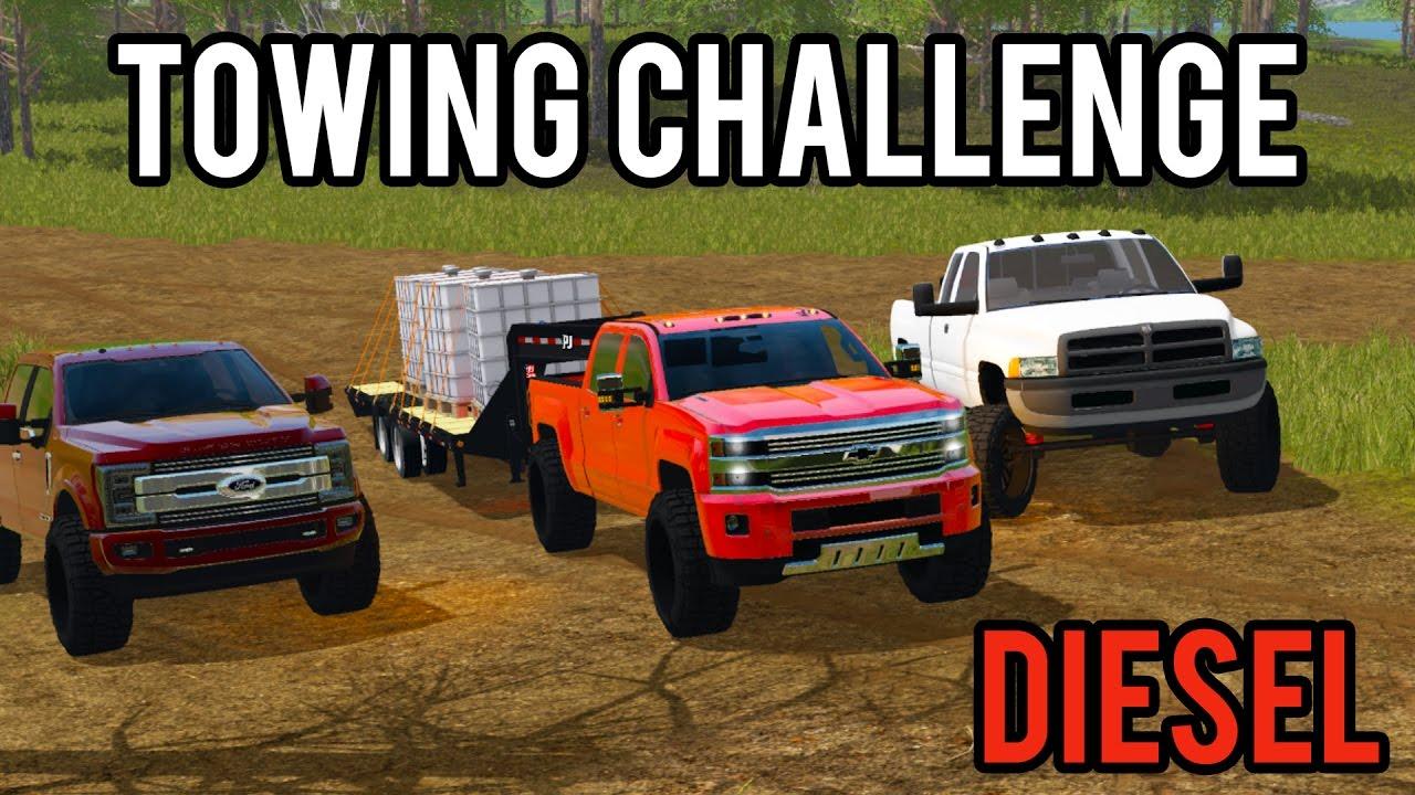 farming simulator 2017 diesel towing challenge ford vs chevy vs dodge youtube. Black Bedroom Furniture Sets. Home Design Ideas