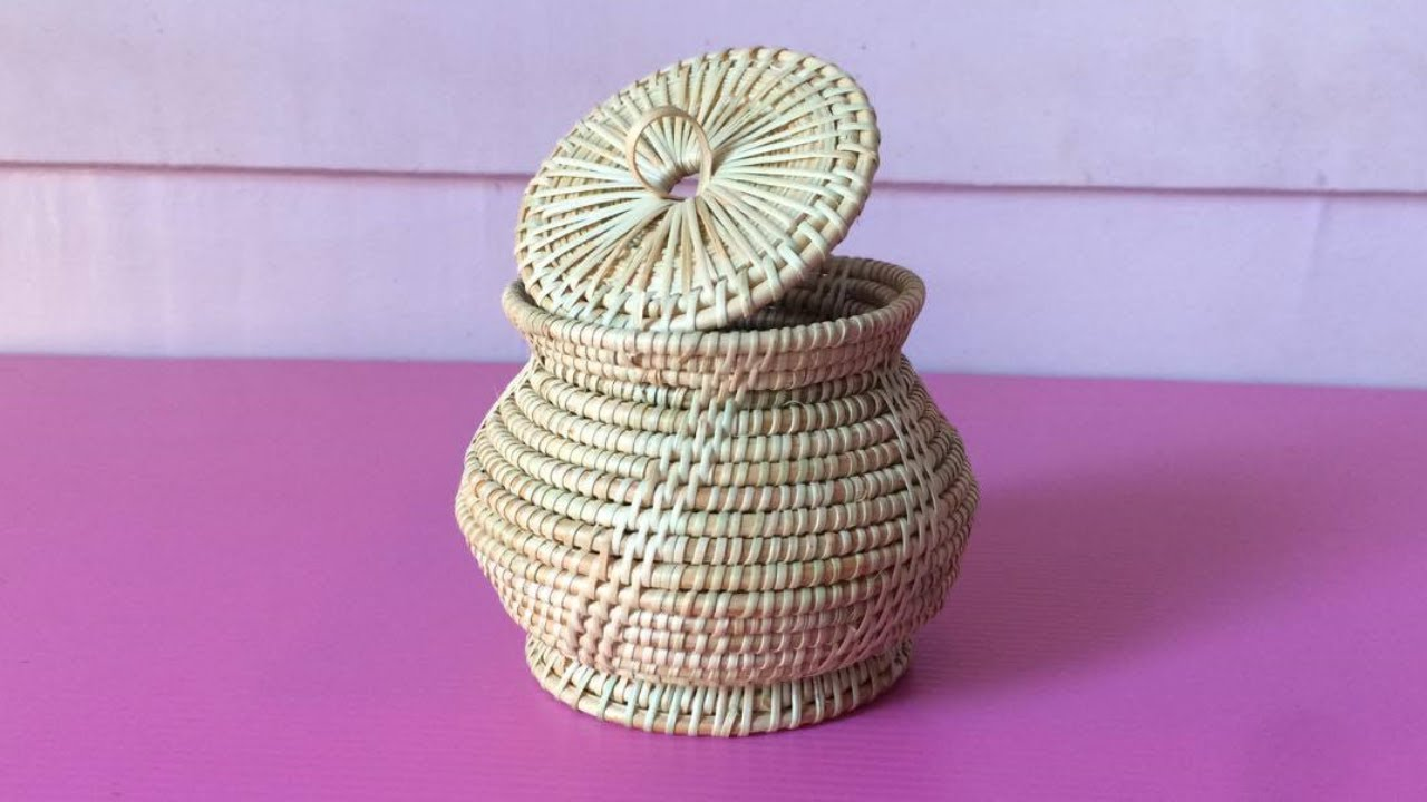 How To Make Rattan Pot Making Wicker Pots Step By Diy Paper Crafts