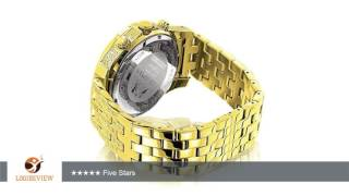 Iced Out Mens Diamond Luxurman Watch 1.25ct Yellow Gold Tone | Review/Test(, 2016-11-06T09:14:19.000Z)