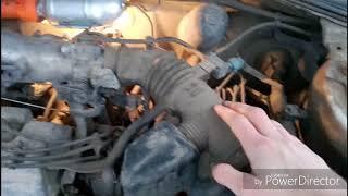 Caldina ST215 замена топливного фильтра тонкой очистки