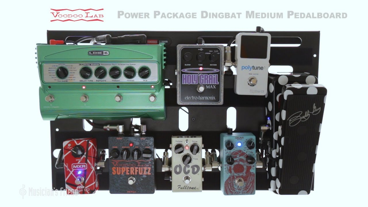 voodoo lab dingbat medium pedalboard power package with pedal power 2 plus youtube. Black Bedroom Furniture Sets. Home Design Ideas