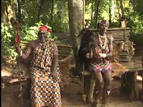 Stephanie Okereke dancing for a village