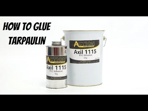 How to glue tarpaulin