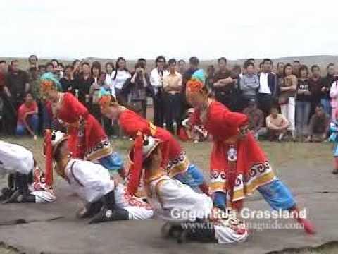 Enjoying Mongolian Folk Dance at Gegentala Grassland, Inner Mongolia