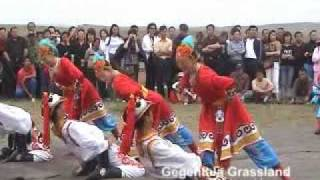 Enjoying Mongolian Folk Dance at Gegentala Grassland, Inner Mongolia