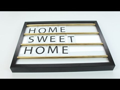 DIY Letter Message Board