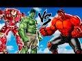 HULK & HULKBUSTER vs RED HULK - EPIC SUPERHEROES BATTLE