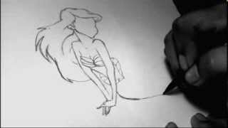 Speed drawing The little mermaid