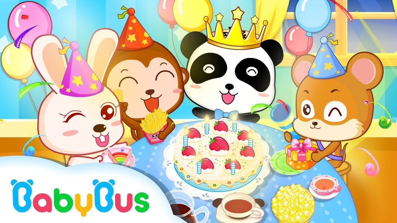 Birthday Party Animation Kids Songs Collections For Babies Babybus Youtube