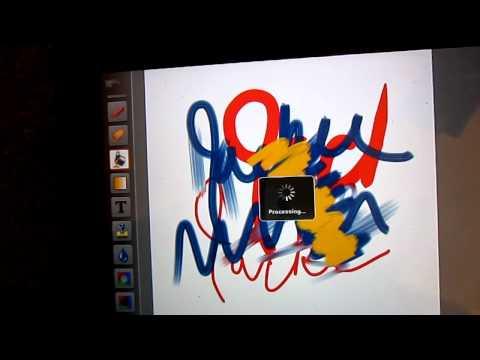 Finger Painting on iPad.MOV