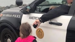 Cop Lets Kids Use Patrol Car Speakers To Say Bye To Dad As His Navy Ship Leaves