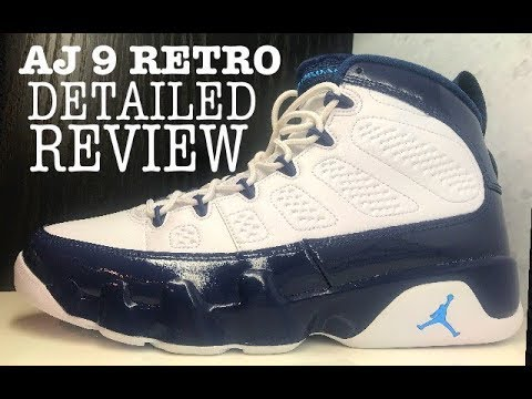 free shipping 62f92 46cdc Air Jordan 9 IX Midnight Navy Blue Pearl Retro Sneaker Detailed Review   jumpman  sneakerhead
