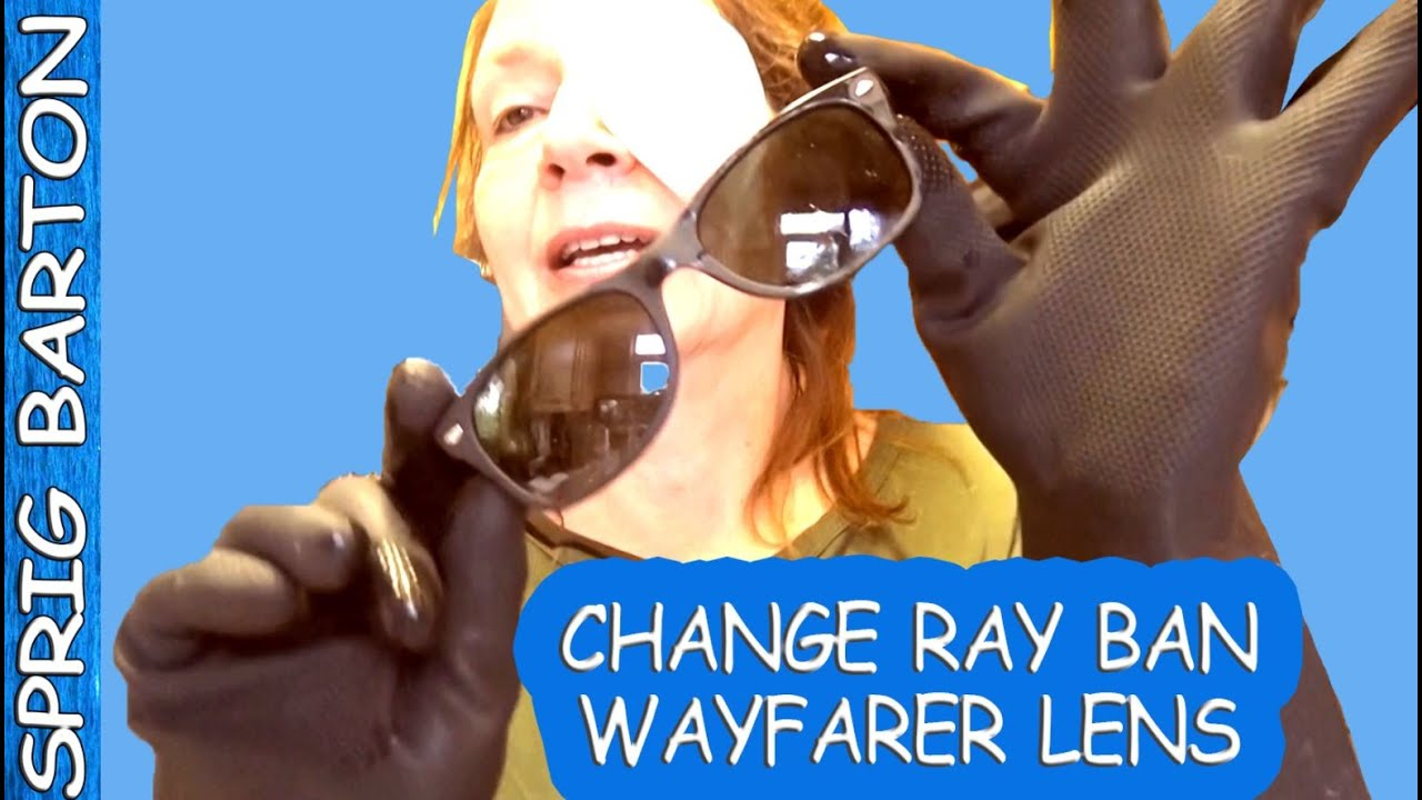 ray ban glass change  how to change the lens in rayban wayfarer sunglasses left