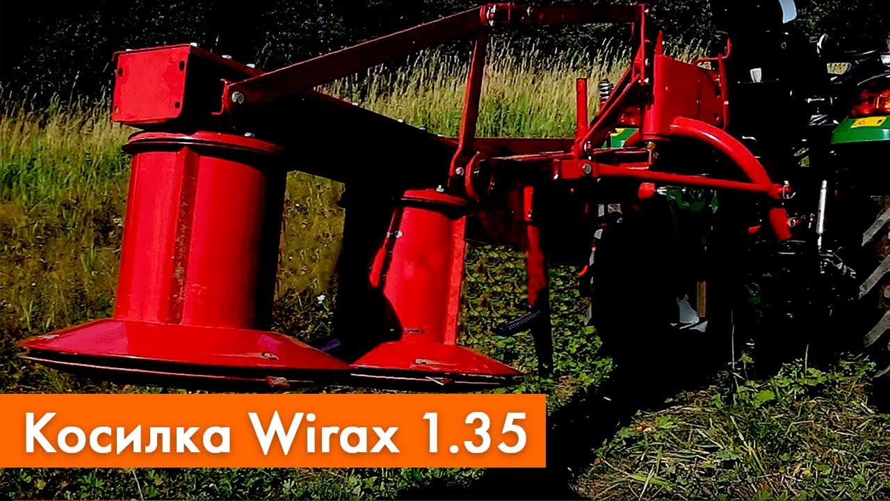 Работа минитрактора Zoomlion RD-244 с косилкой Wirax 1.35