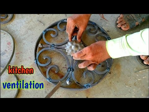 how to make a metal ventilation for home kitchen | roshandaan window idea |