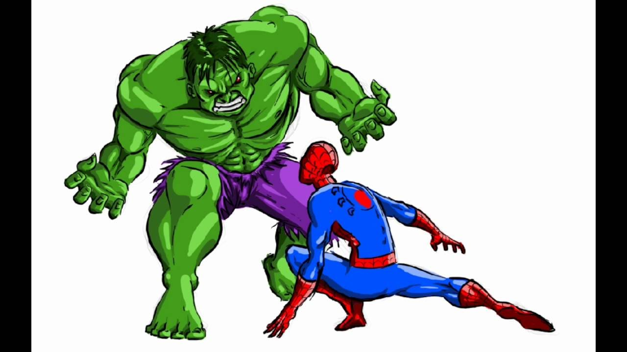 Hulk Vs Spiderman Disegnare I Supereroi Marvel Youtube