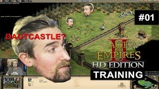 Baut doch diese Burg, BITTE! | Age Of Empires 2 HD Training #01 mit Donnie
