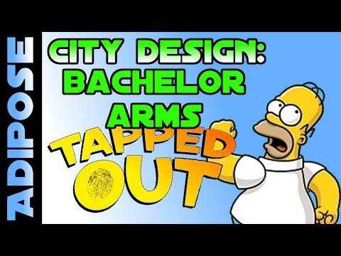 Simpsons Tapped out-Bachelor Arms-City Design-Livestream Highlights - 동영상