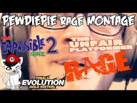 A FUNNY RAGE MONTAGE - PewDiePie RAGE Compilation