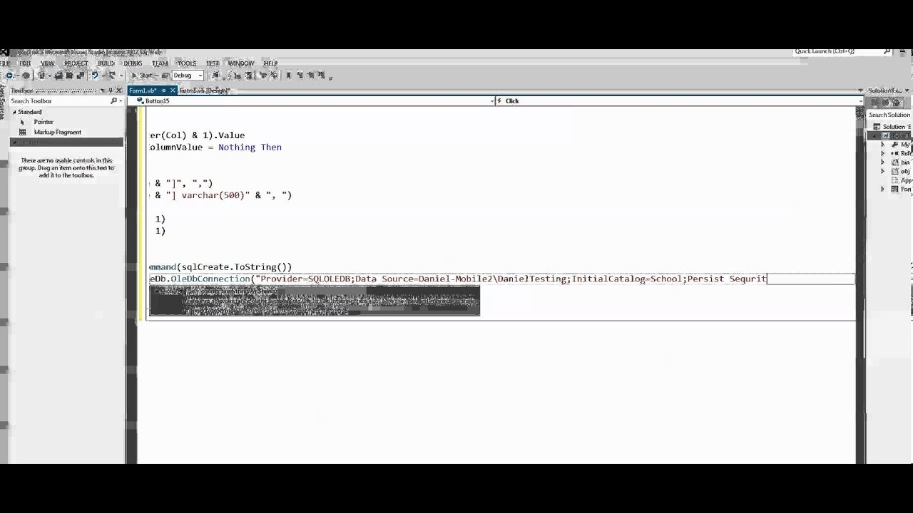 VBNET - Simple Example how to save Excel worksheet as MS SQL table ...