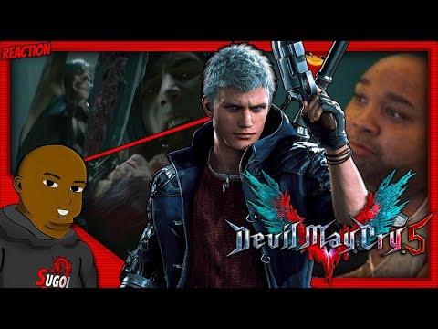 V WANTS DANTE DEAD?! DEVIL MAY CRY 5  V TRAILER LIVE REACTION thumbnail