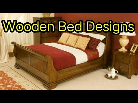 Wooden single and double bed designs